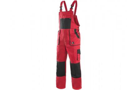 Pracovní kalhoty lacl LUXY ROBIN, červeno-černé