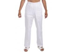 Bílé kalhoty dámské, pevný pas