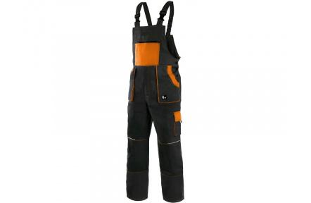 Pracovní kalhoty lacl LUXY ROBIN, černo-oranžové