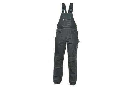 Pracovní kalhoty NARELLAN s laclem ČERNÉ