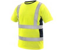 Reflexní triko EXETER žluté
