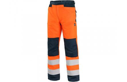 Kalhoty CXS HALIFAX, výstražné, pánské, oranžovo-černé