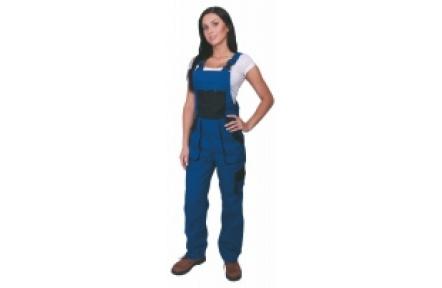 Pracovní kalhoty dámské s laclem LUX SABINA modré