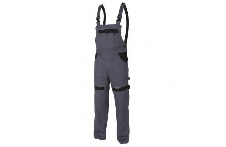 Pracovní kalhoty s laclem COOL TREND šedo-černé