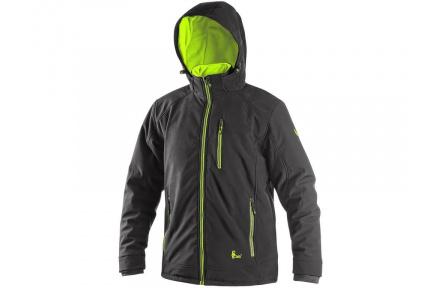 Zimní softshellová bunda KINGSTON, pánská, černo-žlutá