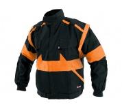 Pracovní bunda LUX EDA černo-oranžová