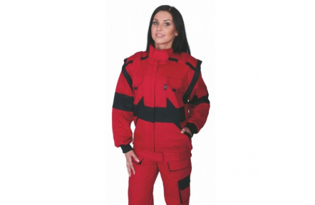 Pracovní bunda dámská LUX DIANA červená