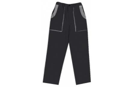 Pracovní kalhoty do pasu LUX JOSEF černo-šedé