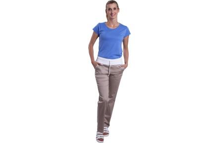 Béžové kalhoty dámské VIOLA, béžové