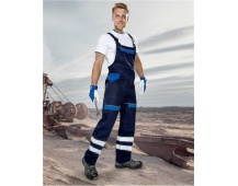 Pracovní kalhoty s laclem COOL TREND reflex - MODRÉ