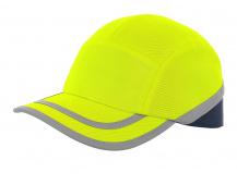 Reflexní čepice s výztuhou CALLUM, žlutá