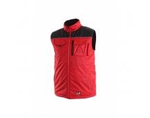 Pracovní vesta zateplená SEATTLE červeno-černá