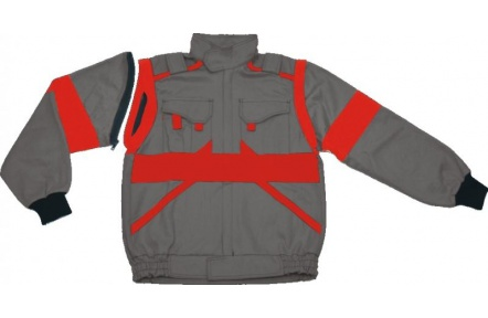 Pracovní bunda LUX EDA šedo-červená