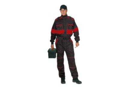 Pracovní kombinéza LUX Robert černo/červená