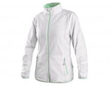 Dámská mikina GRANBY LADY, fleece, bílo-zelená