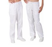 Bílé kalhoty dámské UNI, celé do gumy