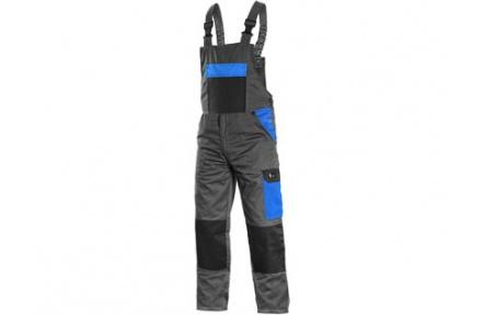 Pracovní kalhoty PHOENIX CRONOS s laclem, šedo-modré