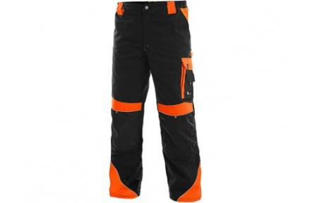 Pracovní kalhoty SIRIUS Brighton černo/oranžové