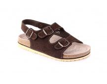 Dámské sandály kožené hnědé Dr.CORK FILL
