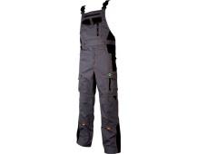 Pracovní kalhoty s laclem VISION šedo-oranžové