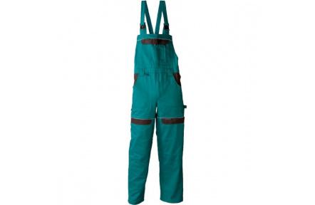 Pracovní kalhoty s laclem COOL TREND zelené