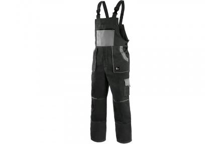 Pracovní kalhoty lacl LUXY ROBIN, černo-šedé