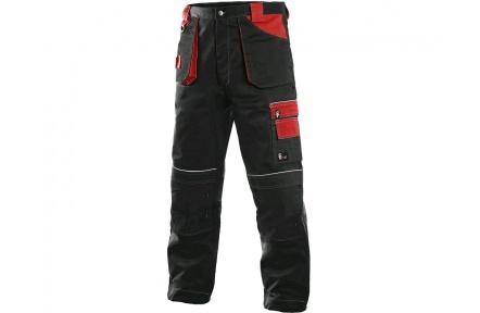 Pracovní kalhoty ORION TEODOR černo/červené