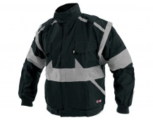Pracovní bunda LUX EDA černo-šedá