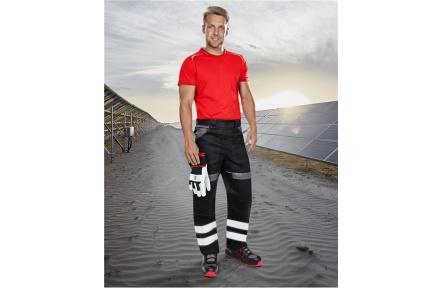 Pracovní kalhoty COOL TREND reflex - ČERNÉ