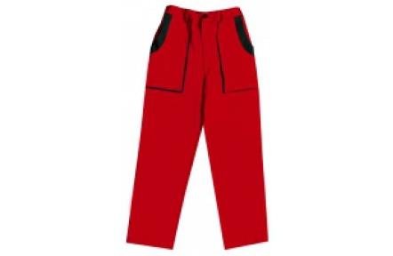 Pracovní kalhoty do pasu LUX JOSEF červeno-černé