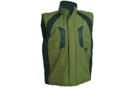 Pracovní vesta zateplená NYALA zelená