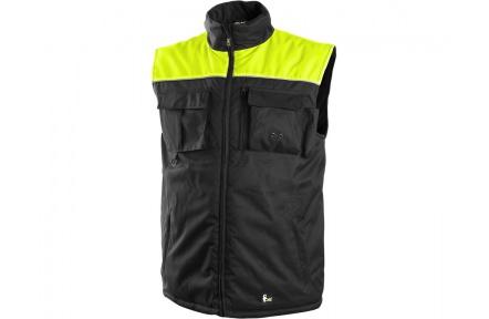 Pracovní vesta zateplená SEATTLE černo-žlutá