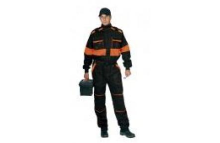 Pracovní kombinéza LUX Robert černo/oranžová