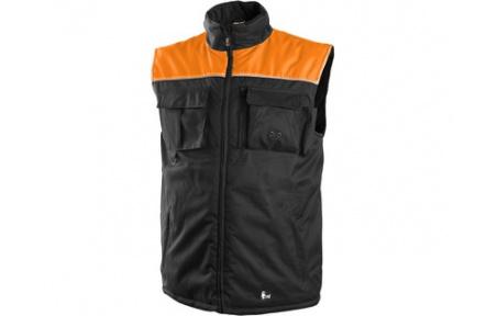 Pracovní vesta zateplená SEATTLE černo-oranžová